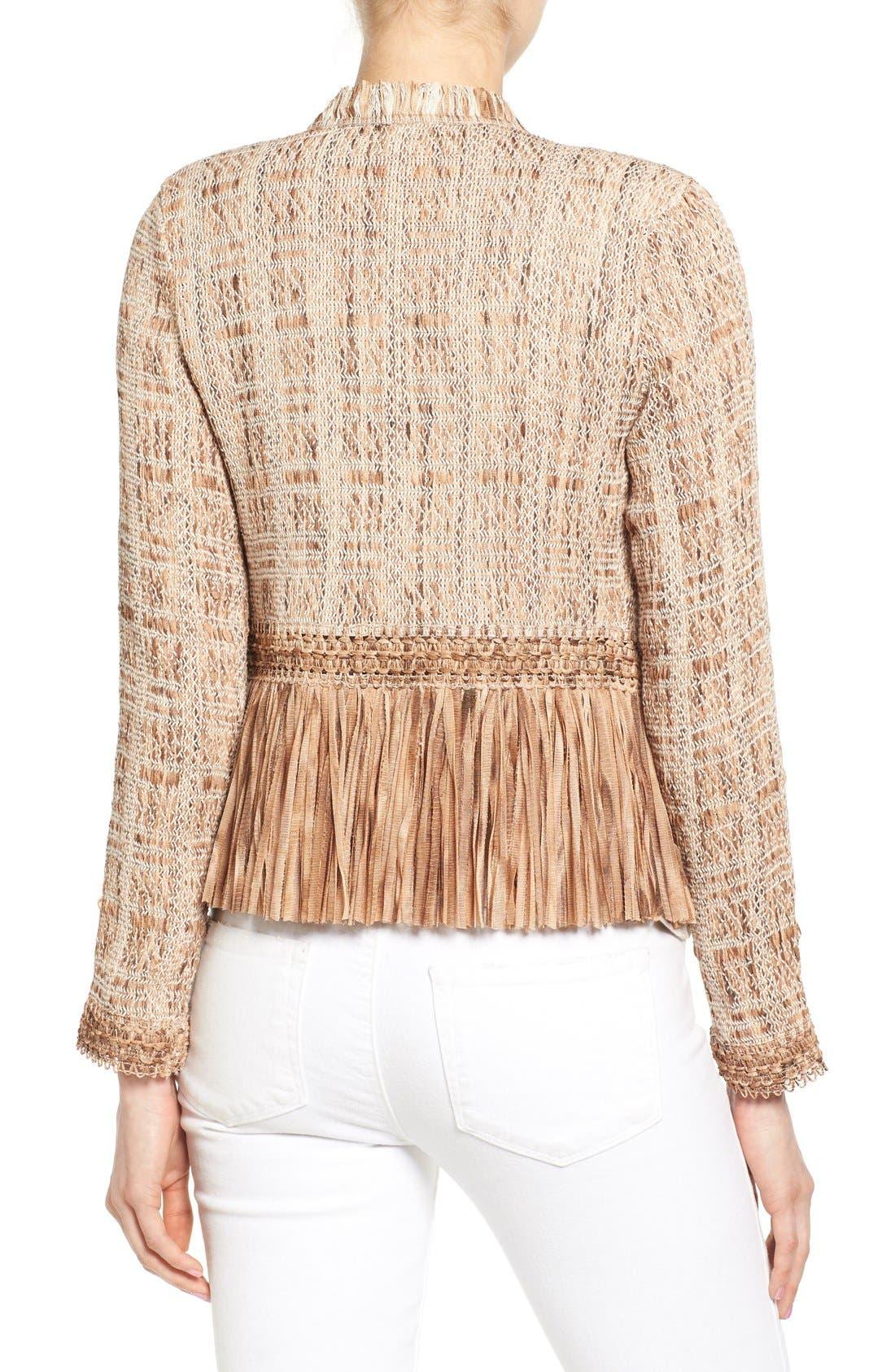 Alternate Image 2  - NIC+ZOE 'Cork' Fringe Tweed Jacket (Regular & Petite)