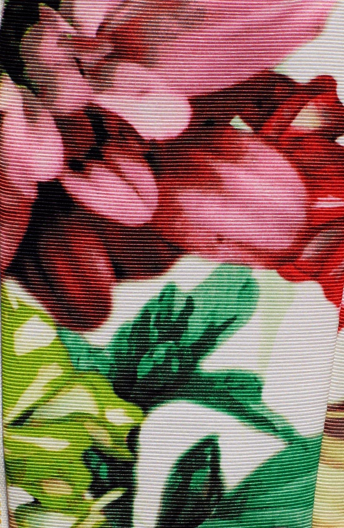 Alternate Image 6  - Eliza J Belted Floral Print Faille Fit & Flare Dress