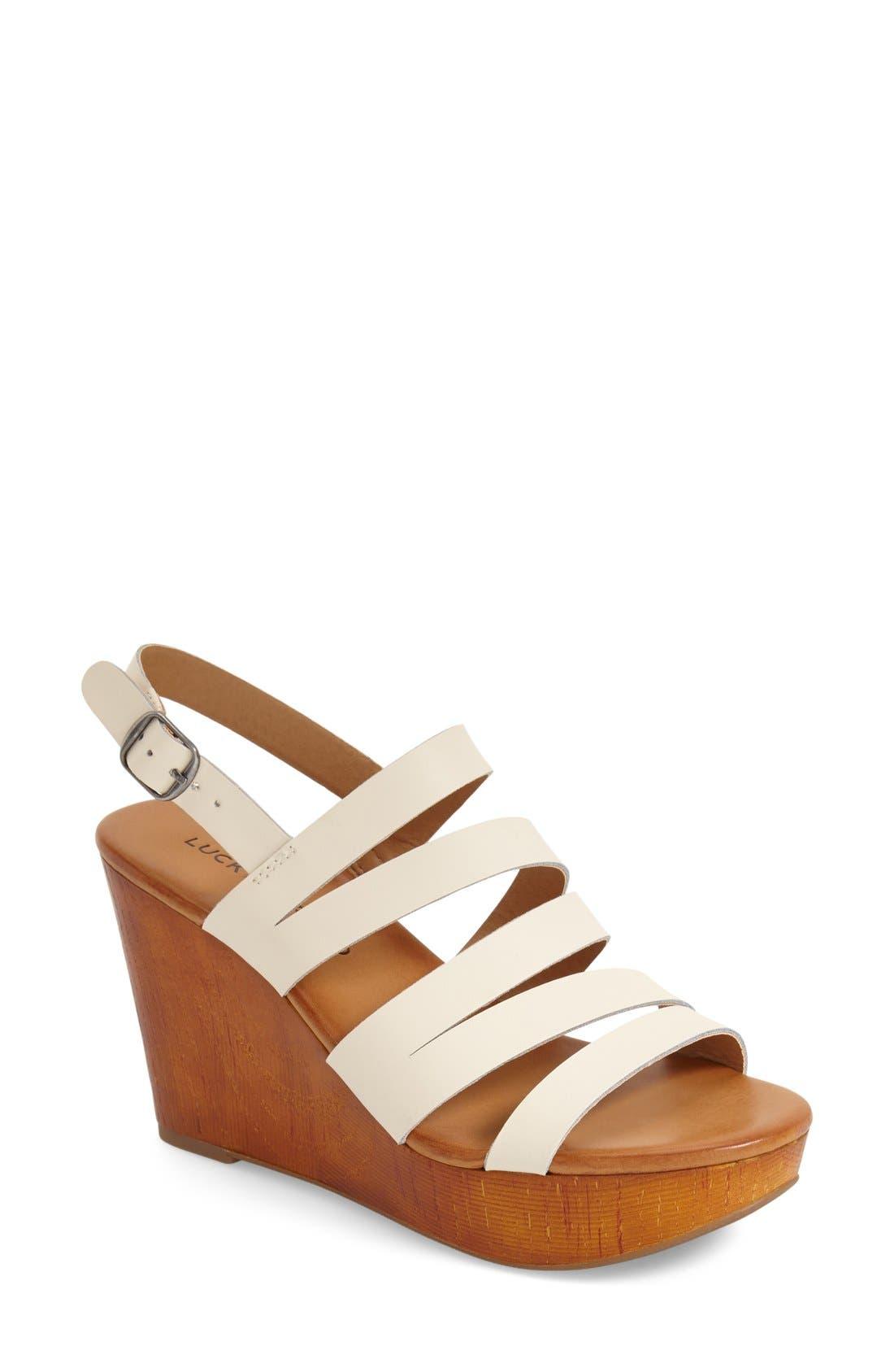 Alternate Image 1 Selected - Lucky Brand 'Marinaa' Wedge Sandal (Women)