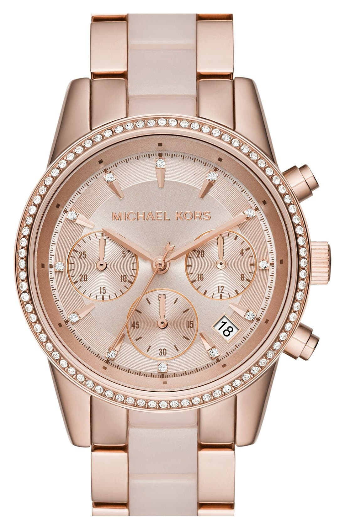 Michael Kors 'Ritz' Chronograph Bracelet Watch, 37mm