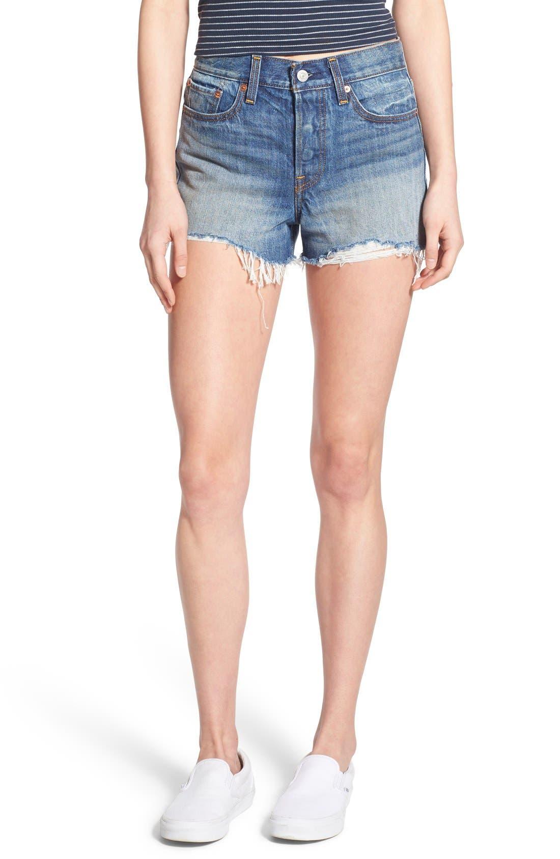 Alternate Image 1 Selected - Levi's® High Rise Cutoff Shorts