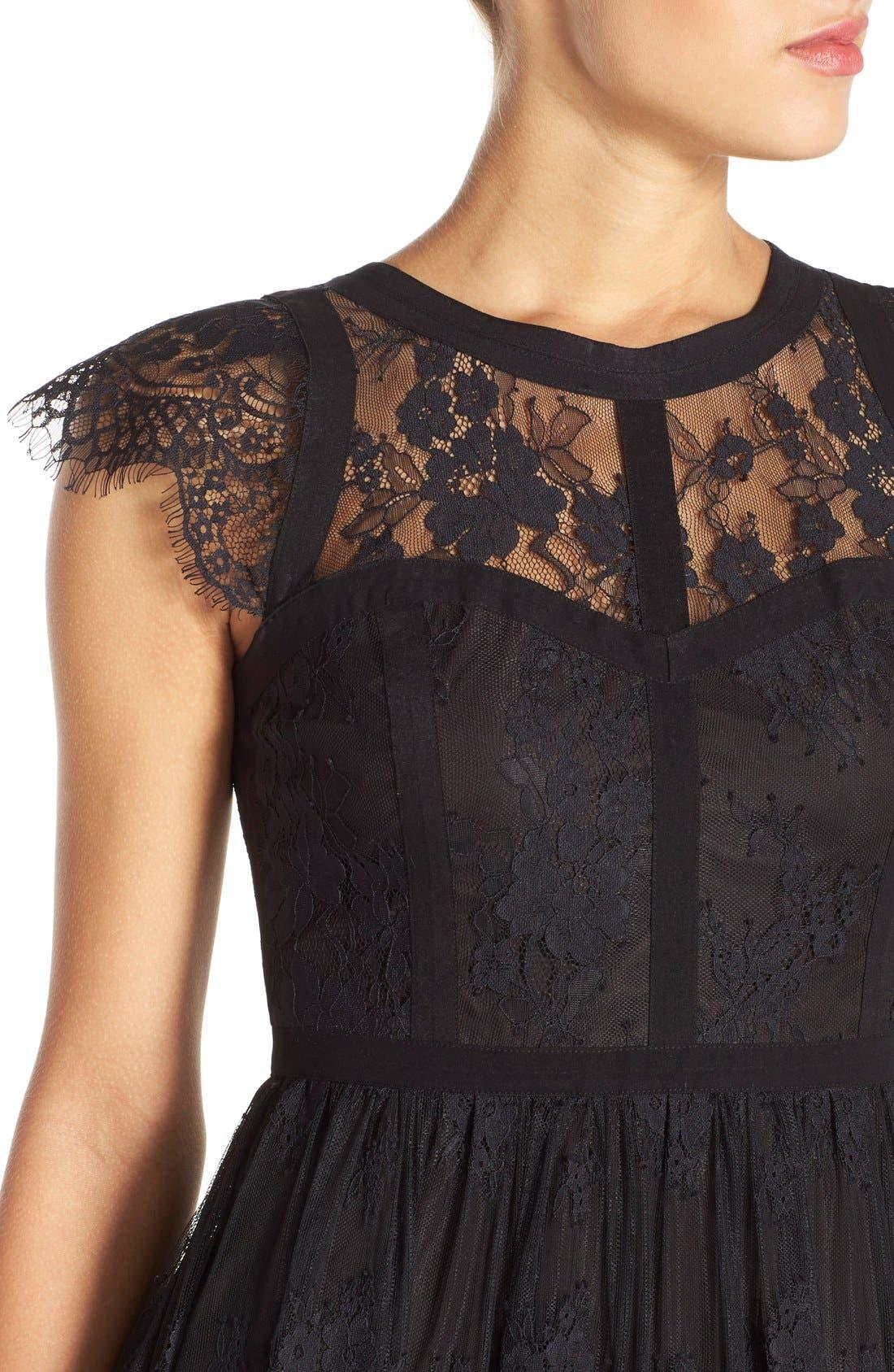 Alternate Image 4  - Parker 'Tesoro' Lace Fit & Flare Midi Dress