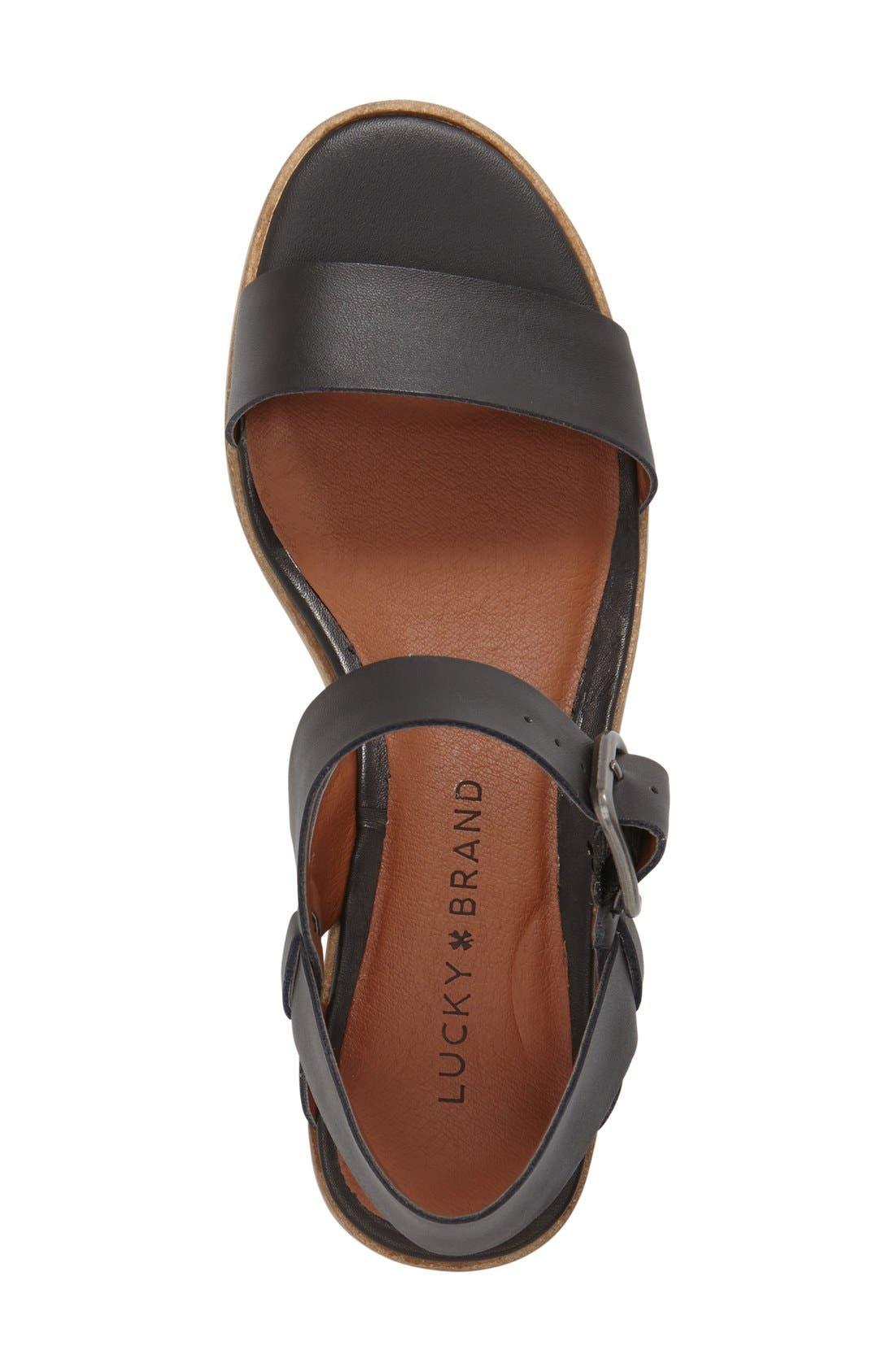Alternate Image 3  - Lucky Brand 'Toni' Stacked Heel Sandal (Women)