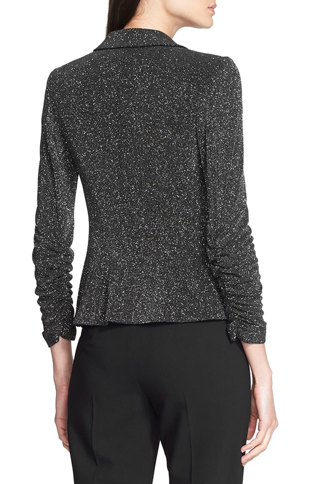 Alternate Image 2  - Armani Collezioni Glitter Jersey Jacket