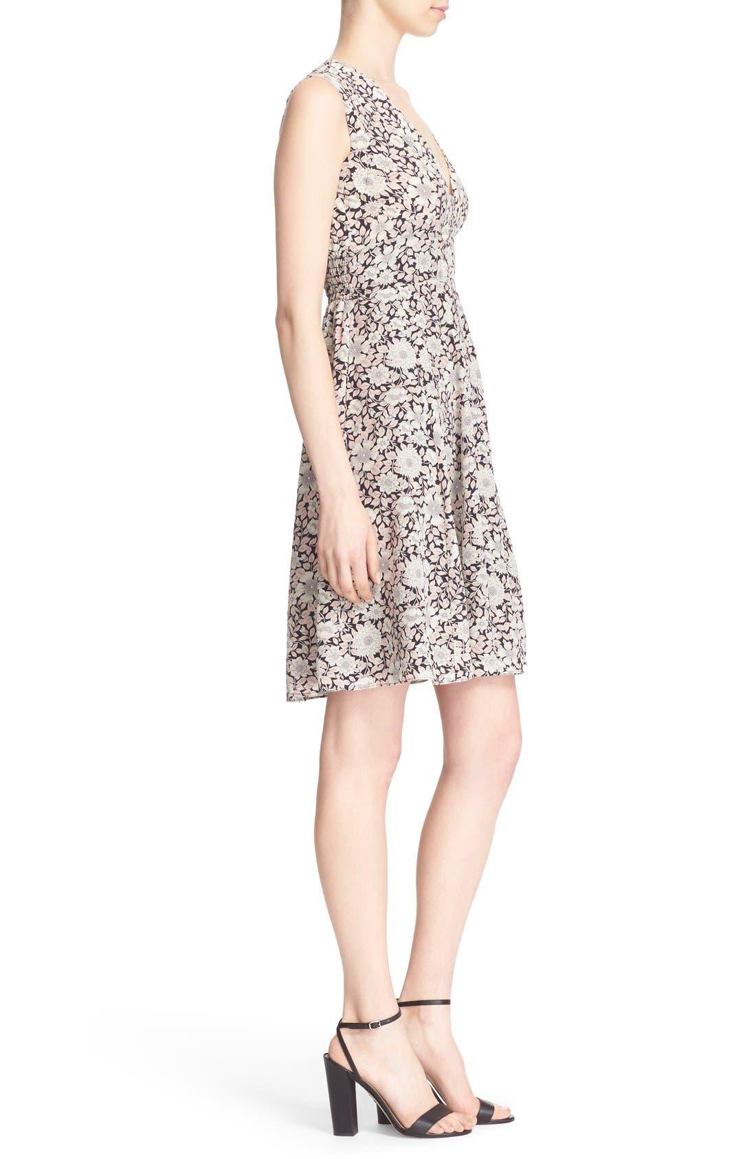 Alternate Image 3  - Rebecca Taylor 'Lindsay' Floral Print Sleeveless Silk Fit & Flare Dress