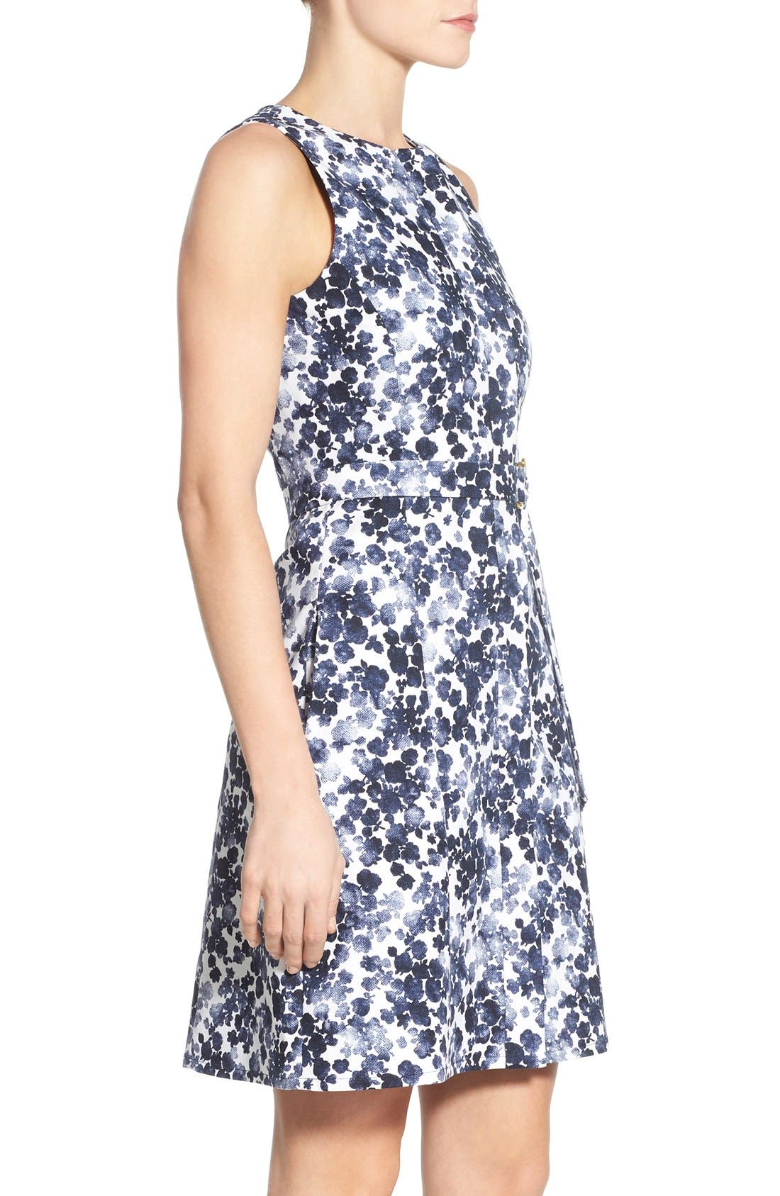 Alternate Image 4  - MICHAEL Michael Kors 'Gemma' Print Belted A-Line Dress