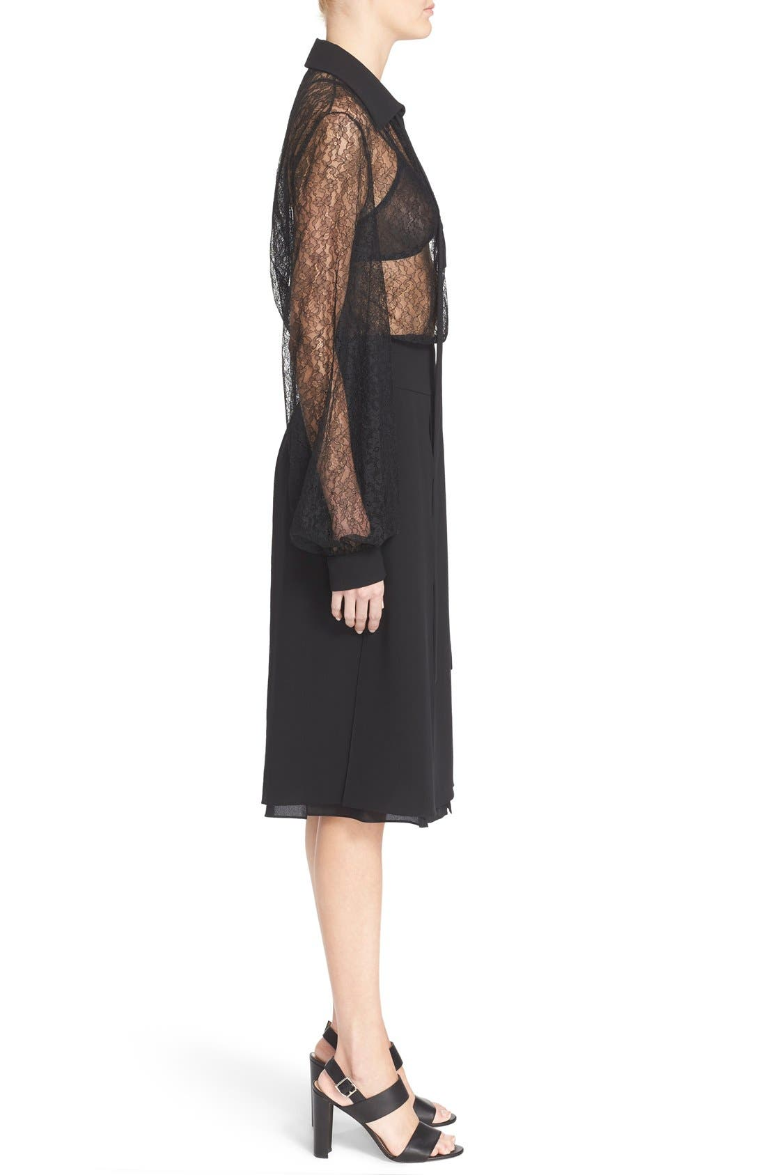 Alternate Image 6  - Michael Kors Tie Neck Chantilly Lace Blouse