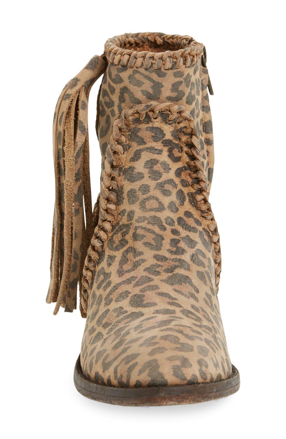 Alternate Image 3  - Matisse 'Sibel' Leopard Print Western Bootie (Women)