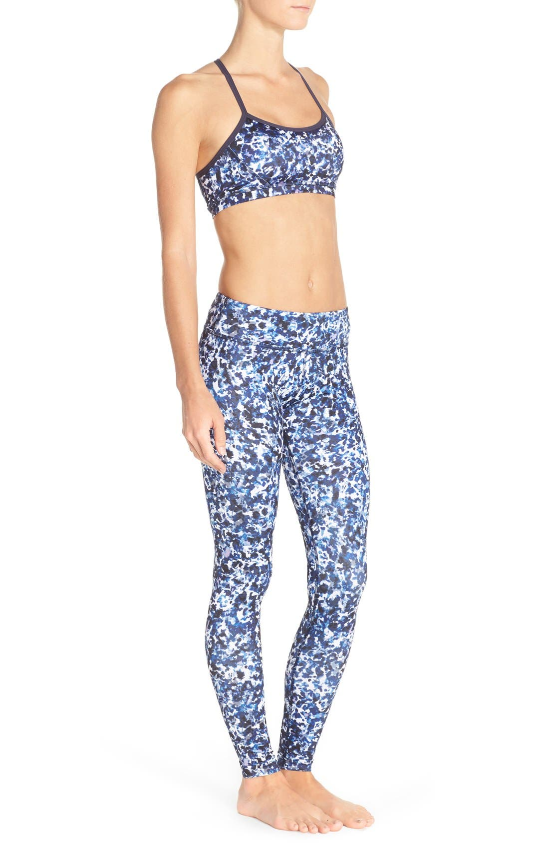 Alternate Image 6  - Beyond Yoga Print Racerback Sports Bra