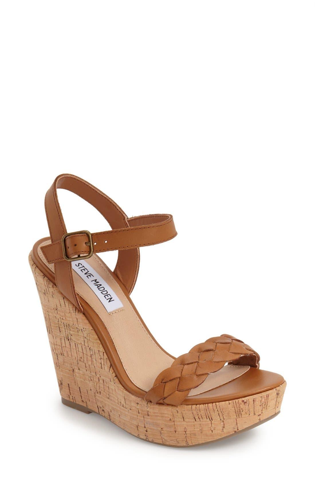 Alternate Image 1 Selected - Steve Madden 'Emmey' Platform Wedge Sandal (Women)