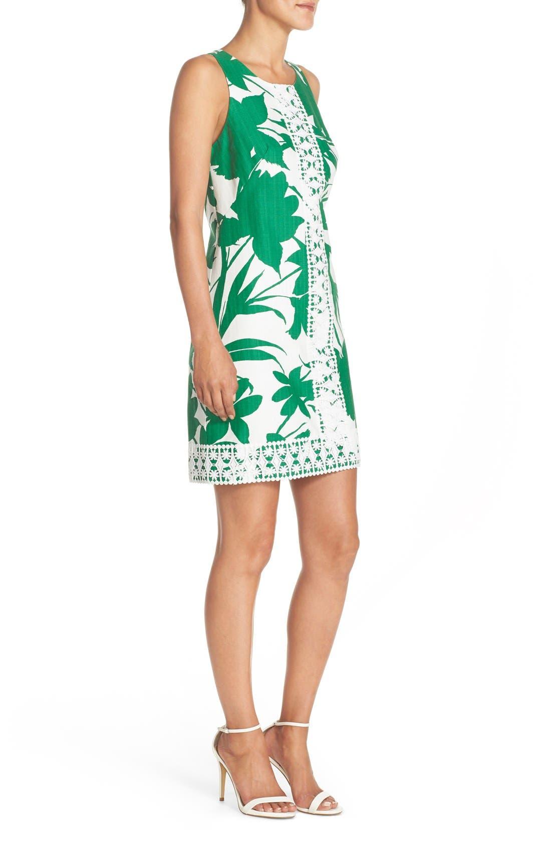 Alternate Image 3  - Eliza J Print Woven Shift Dress