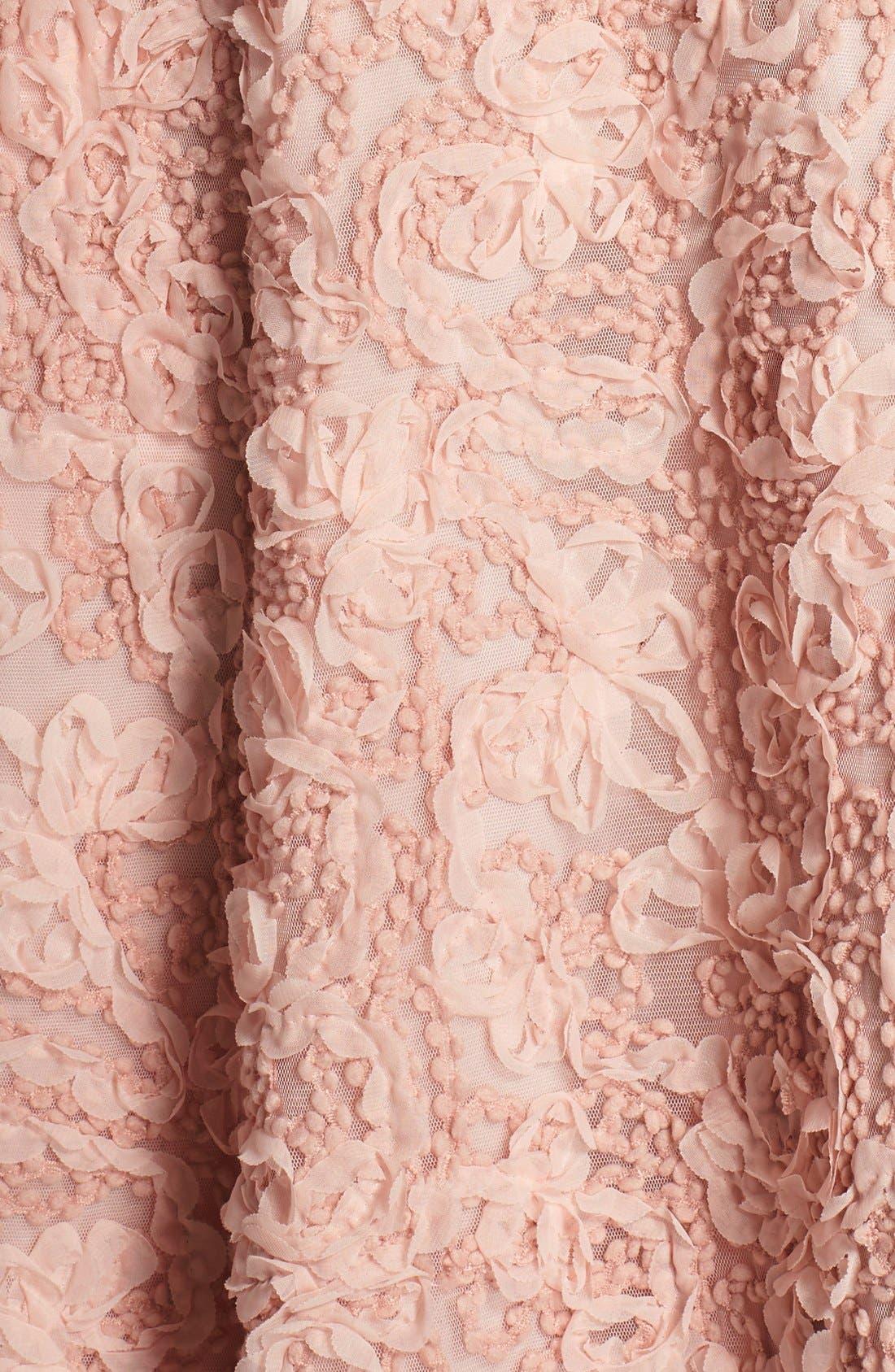 Alternate Image 5  - Aidan by Aidan Mattox Pleat & Rosette Chiffon Gown