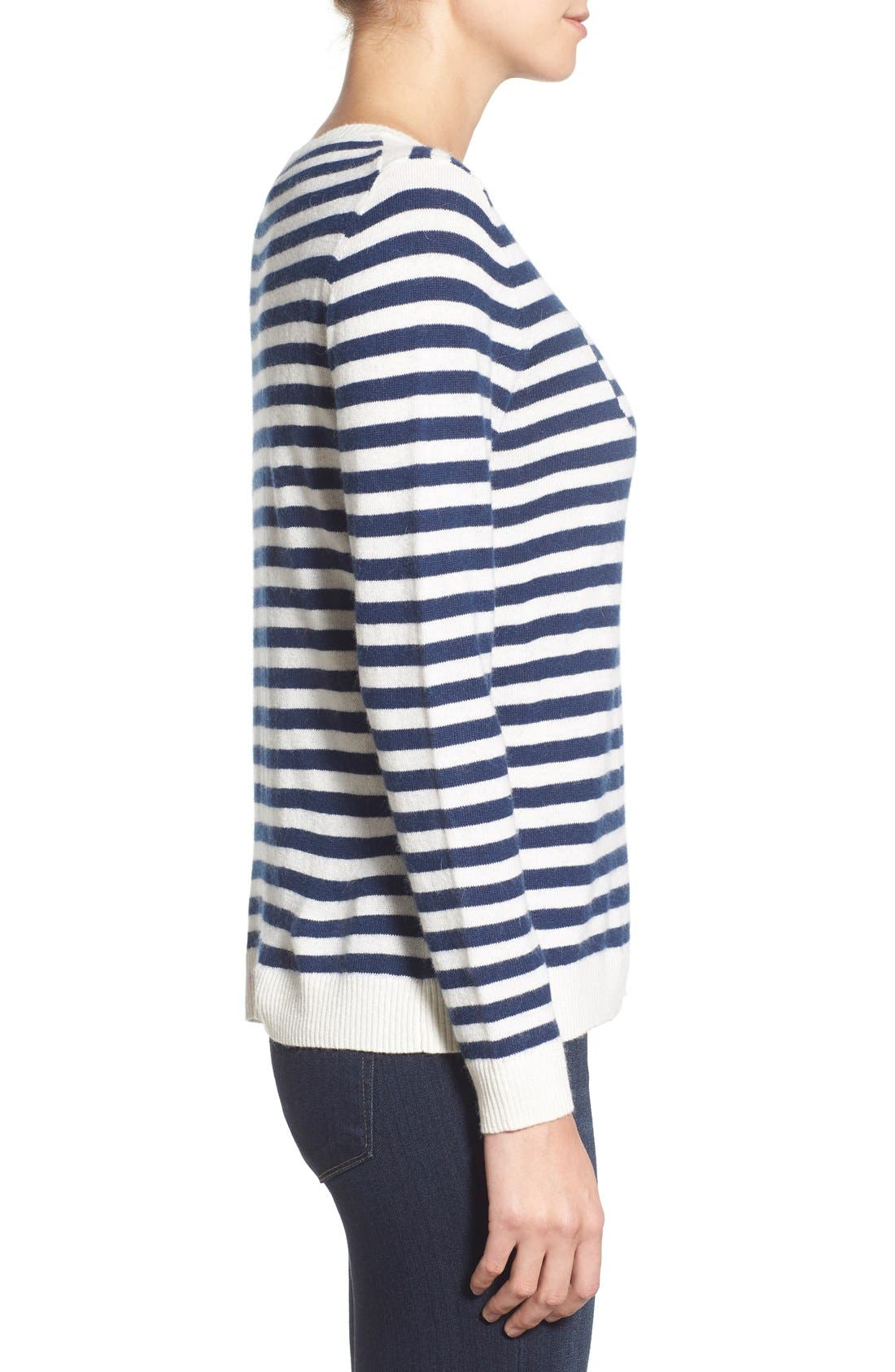 Alternate Image 3  - Vineyard Vines 'Nautical Stripe Whale' Crewneck Sweater