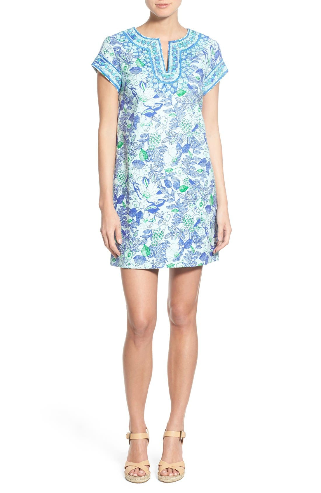 Alternate Image 1 Selected - Vineyard Vines 'Cordia' Floral Print Tunic Dress