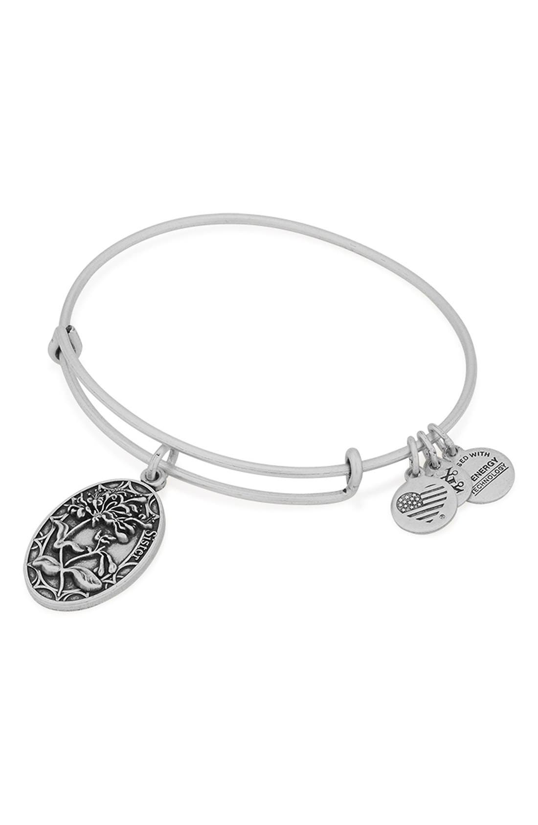 Alternate Image 2  - Alex and Ani 'I Love You Sister' Expandable Wire Bangle