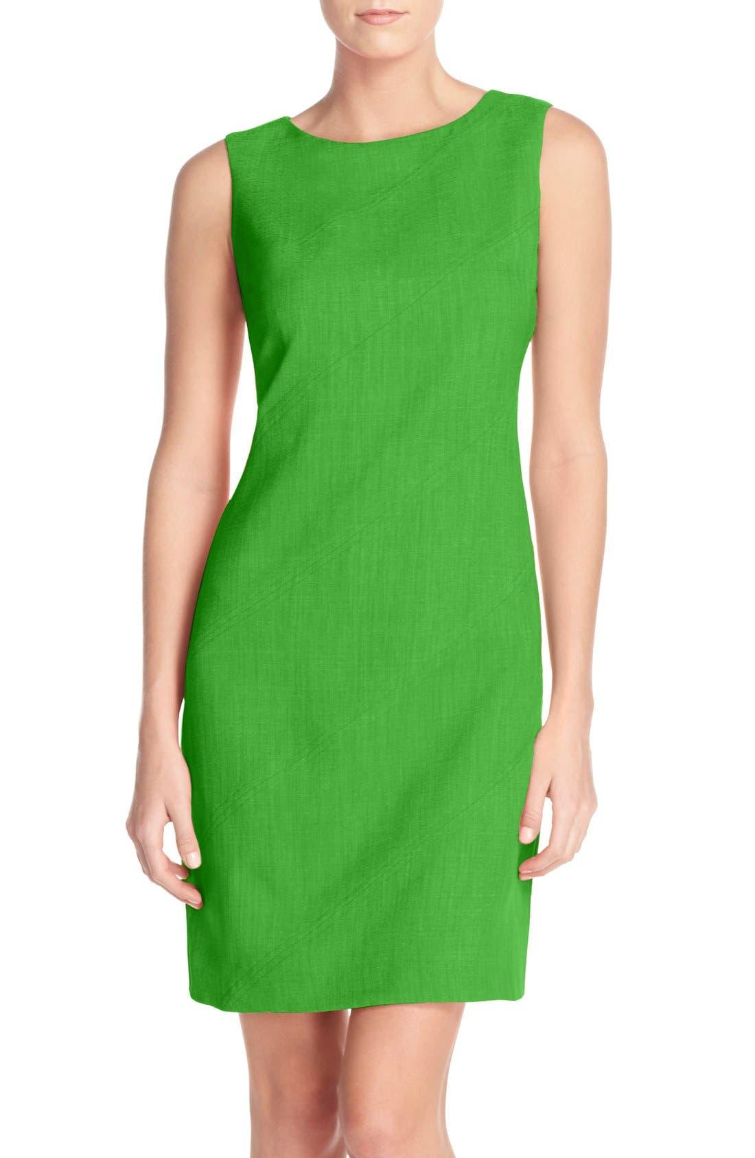 Main Image - Ellen Tracy Seam Sheath Dress (Regular & Petite)