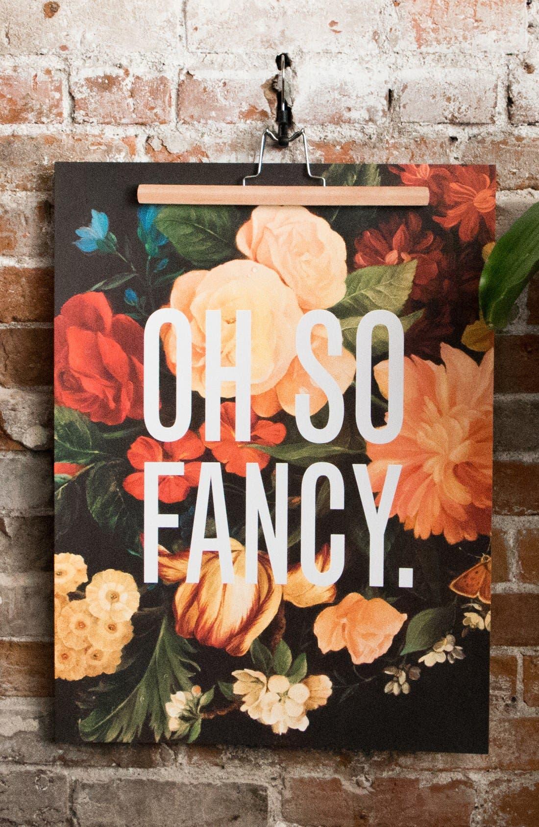 Alternate Image 2  - Easy, Tiger 'Oh So Fancy' Print