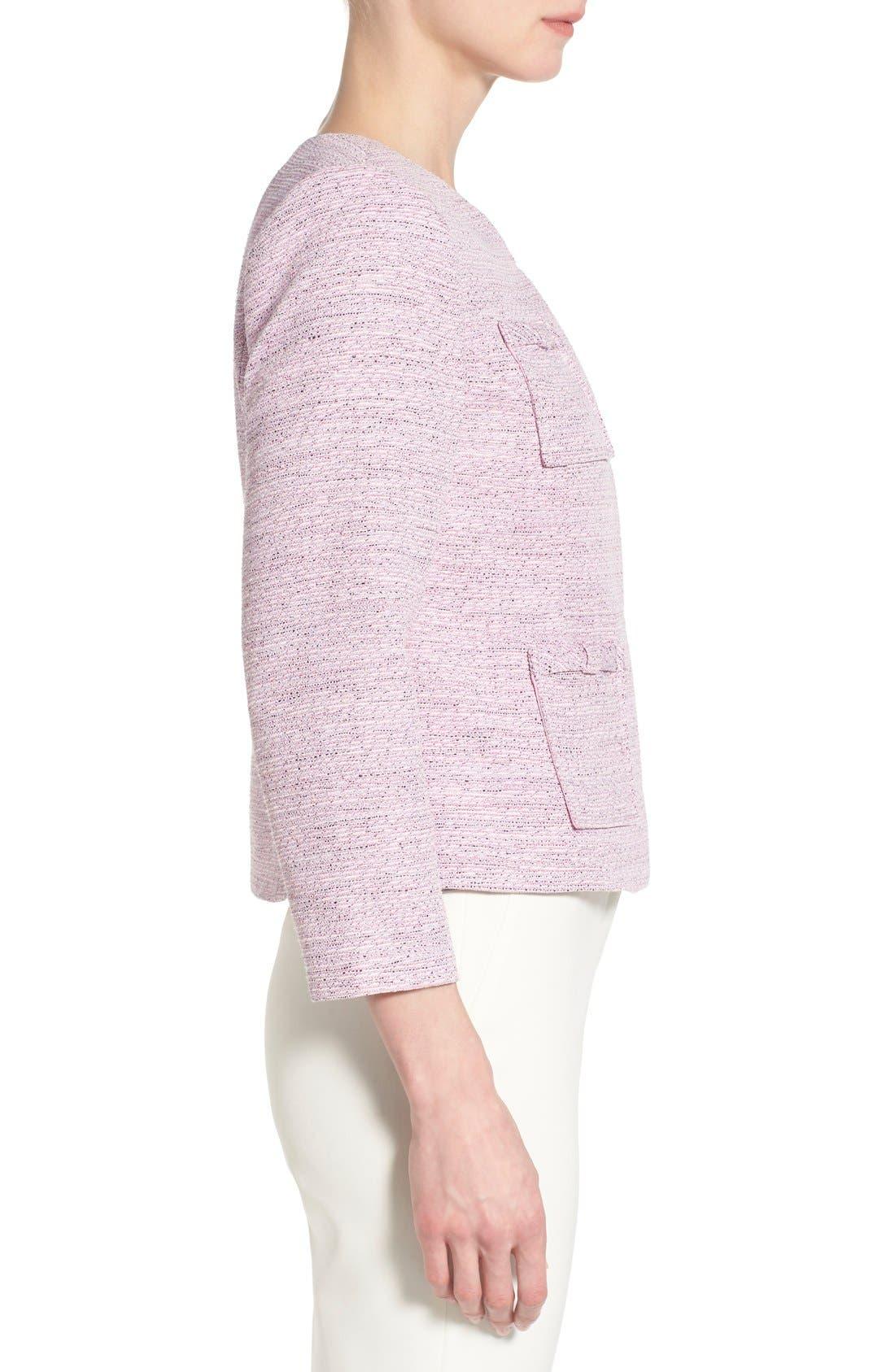 Alternate Image 4  - CeCe by Cynthia Steffe Four-Pocket Collarless Tweed Jacket