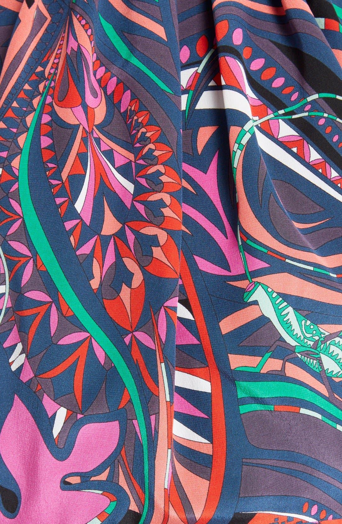 Alternate Image 3  - Emilio Pucci Print Silk Halter Gown