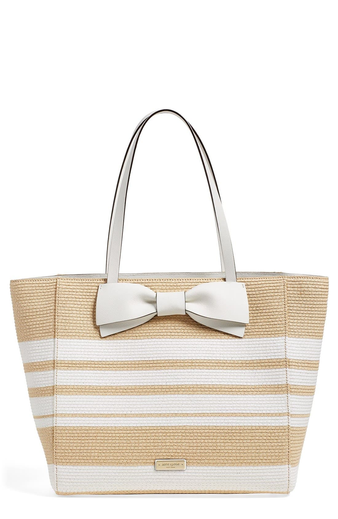Alternate Image 1 Selected - kate spade new york 'clement street - blair' woven straw tote