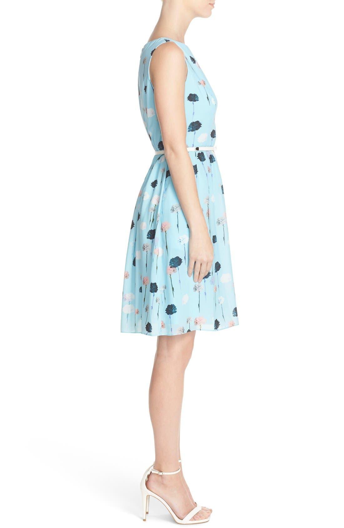 Alternate Image 3  - Adrianna Papell Carnation Print Fit & Flare Dress (Regular & Petite)