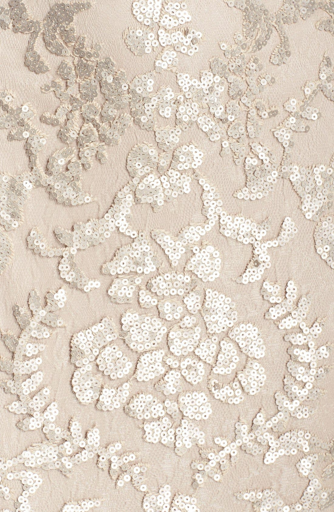 Alternate Image 6  - Tadashi Shoji Sequin Lace Mermaid Gown (Regular & Petite)