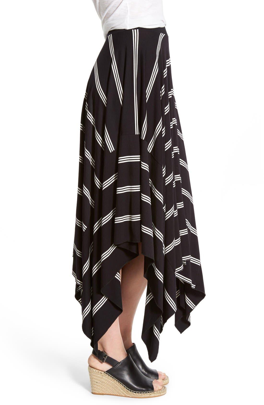 Alternate Image 3  - Halogen® Stretch Knit Handkerchief Hem Maxi Skirt (Regular & Petite)