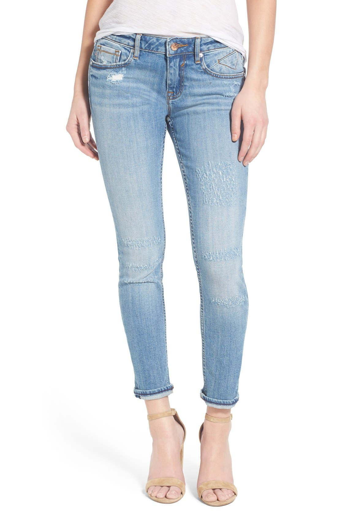 Main Image - Vigoss 'Tomboy 'Thompson' Distressed Boyfriend Jeans