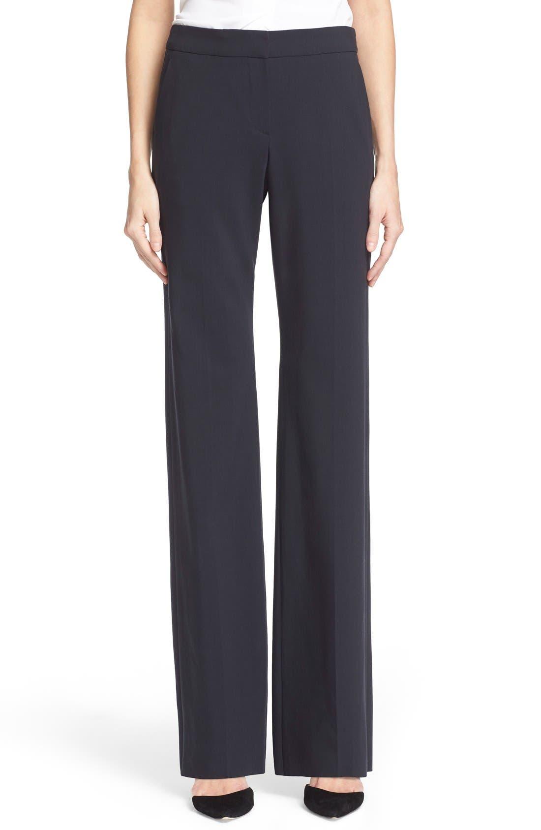 Alternate Image 1 Selected - Armani Collezioni Straight Leg Featherweight Wool Pants