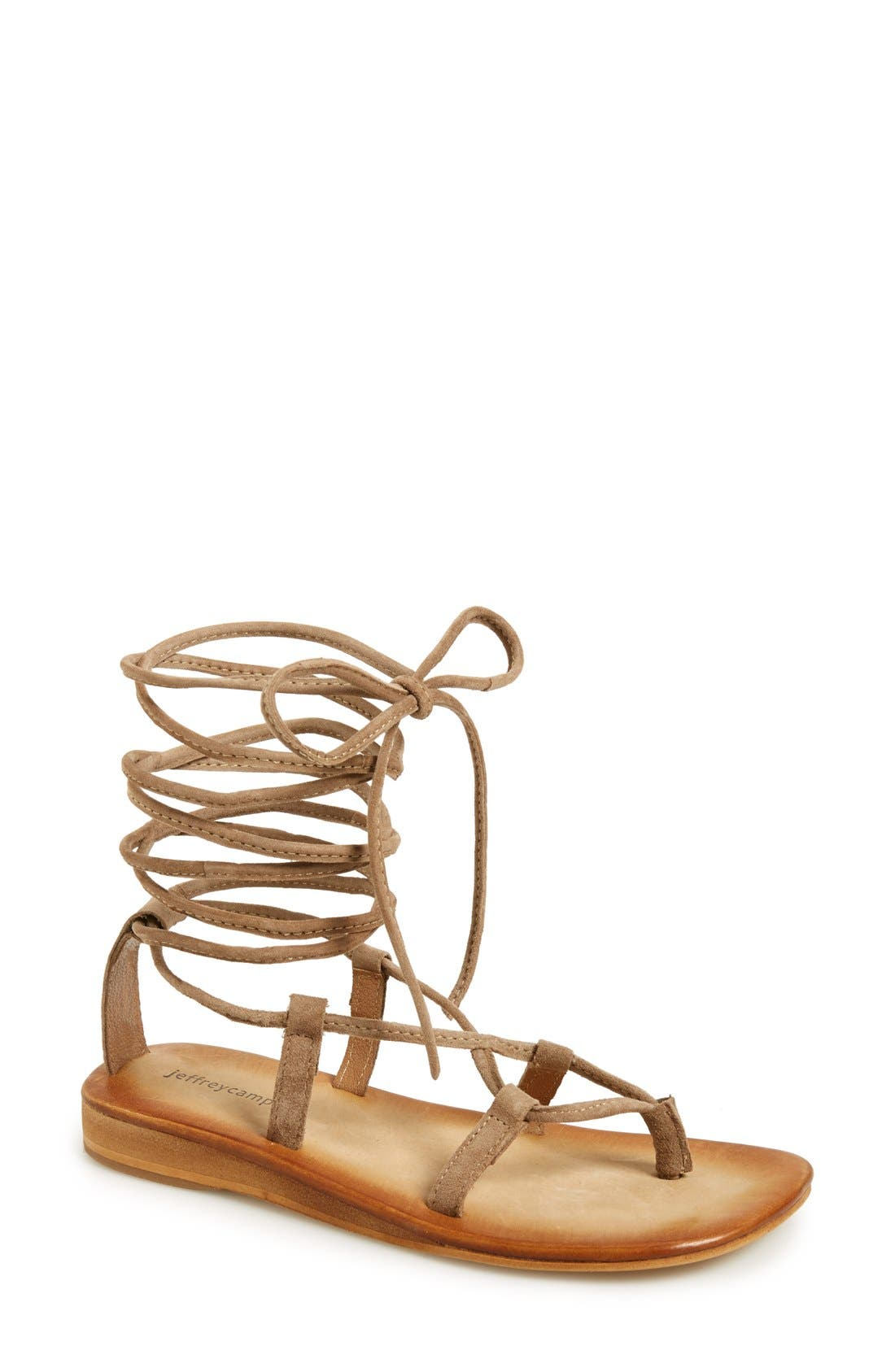 Alternate Image 1 Selected - Jeffrey Campbell 'Lima' Wraparound Strap Sandal (Women)