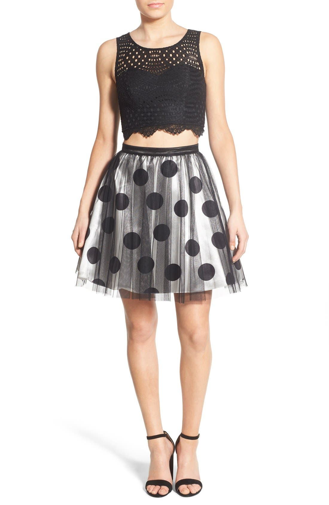 Alternate Image 1 Selected - Sequin Hearts Two-Piece Dress