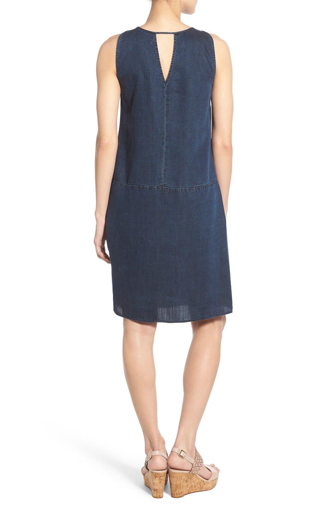 Alternate Image 2  - NIC+ZOE A-Line Denim Shift Dress (Regular & Petite)