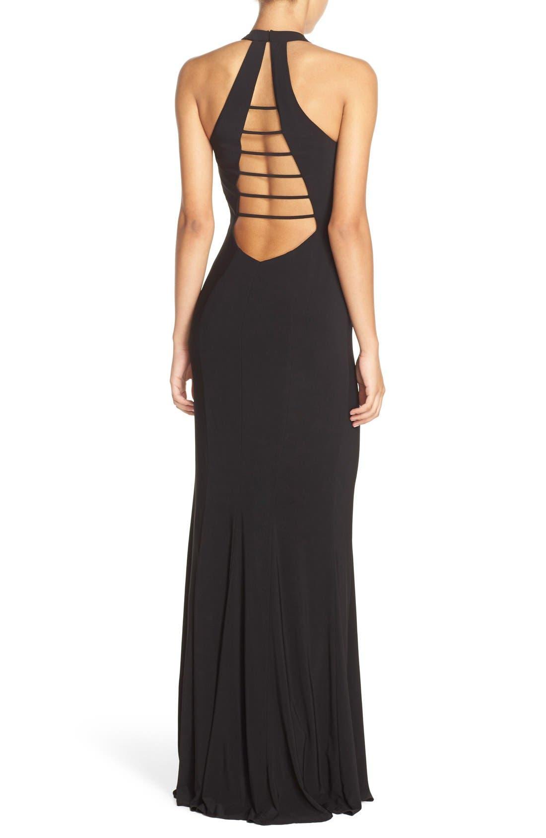 Alternate Image 2  - Faviana Cutout Jersey Gown