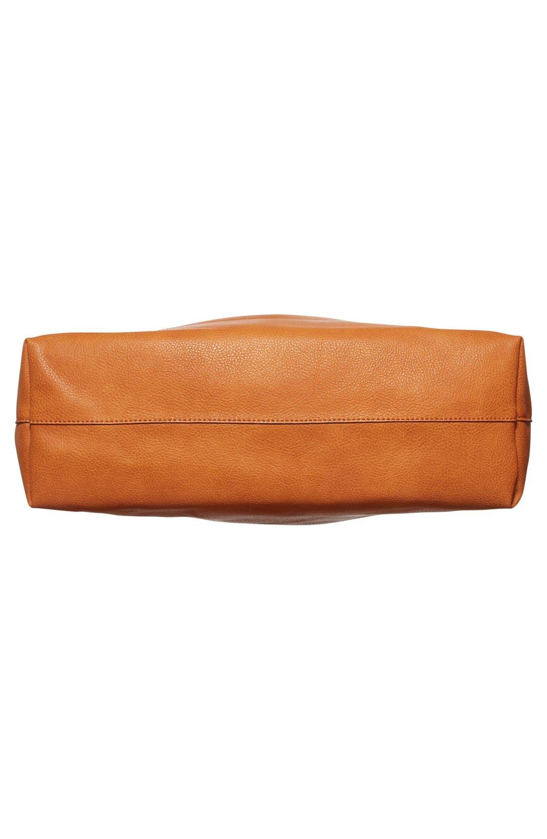 Alternate Image 6  - Sole Society Dawson Oversize Faux Leather Shopper