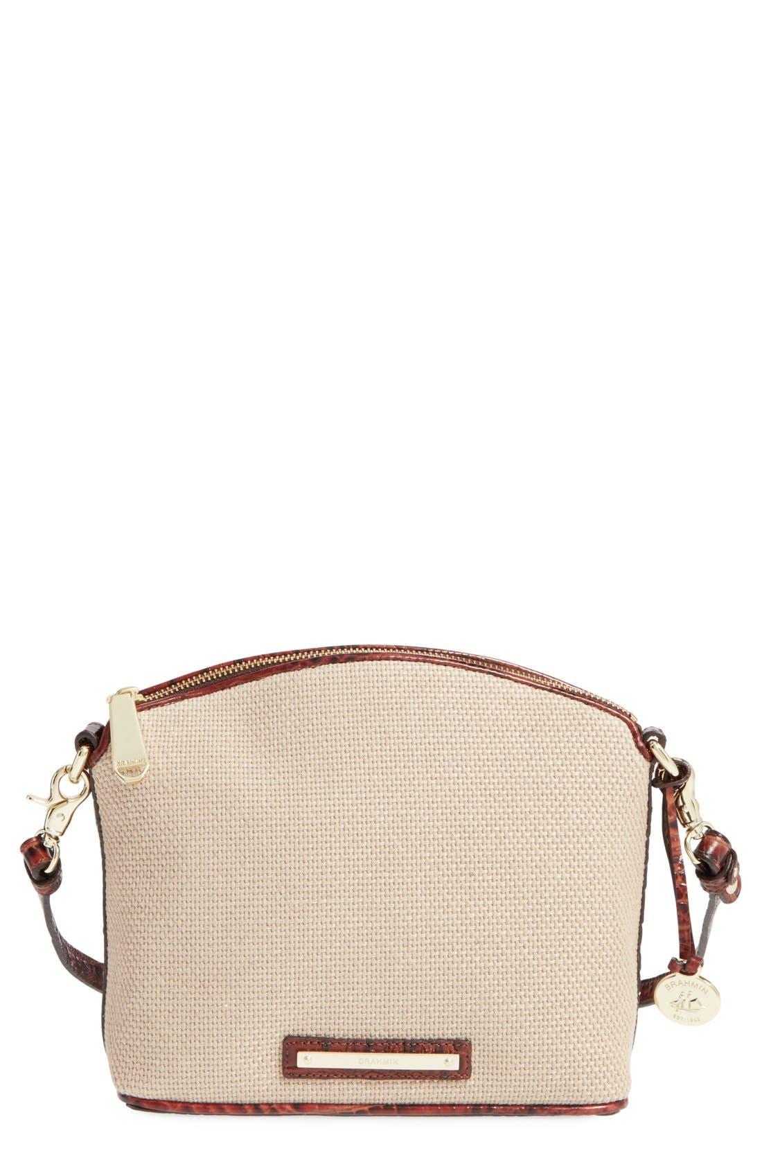 Main Image - Brahmin 'Mini Duxbury' Woven Crossbody Bag