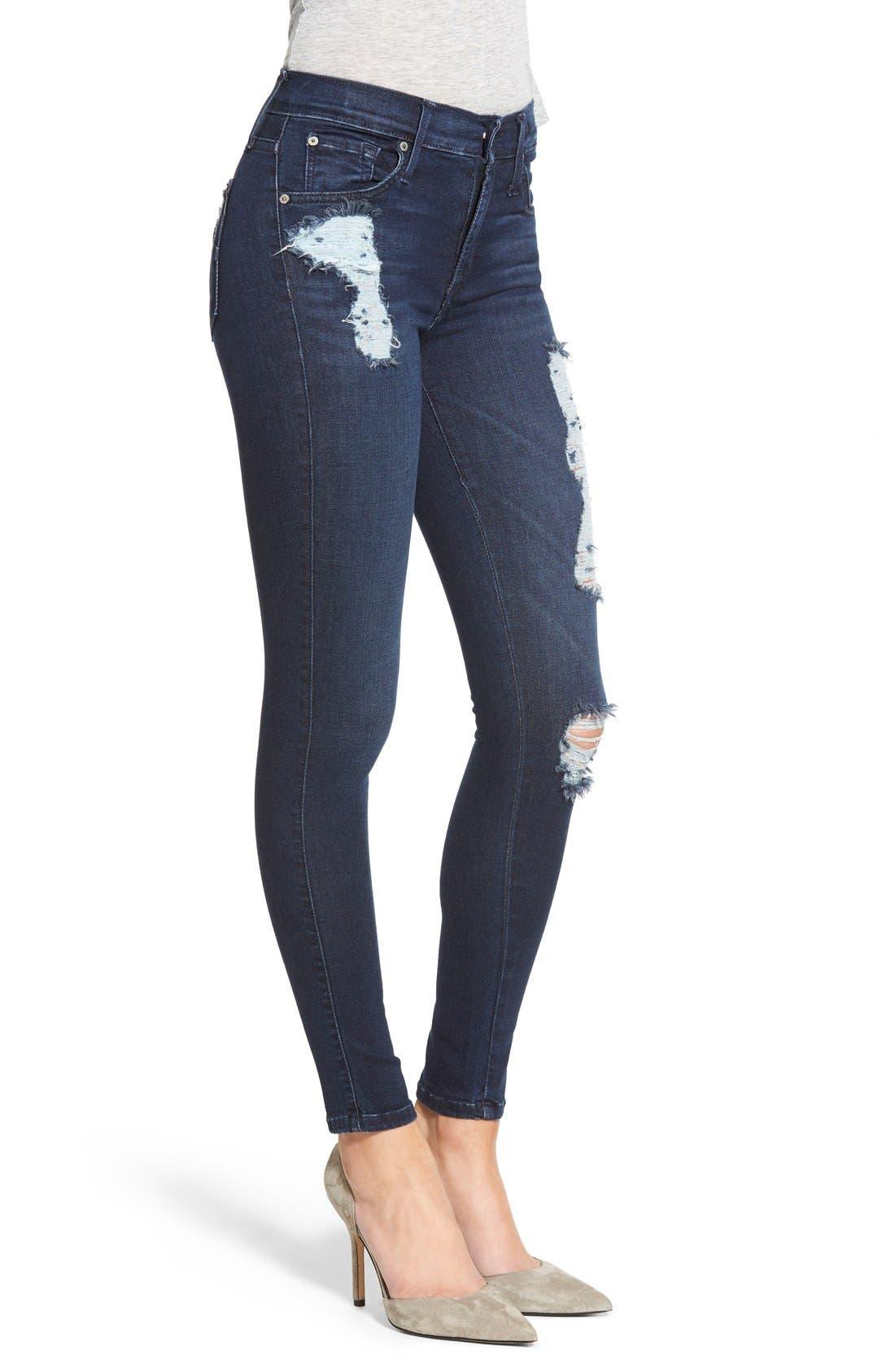 Alternate Image 3  - James Jeans Ankle Five-Pocket Denim Leggings
