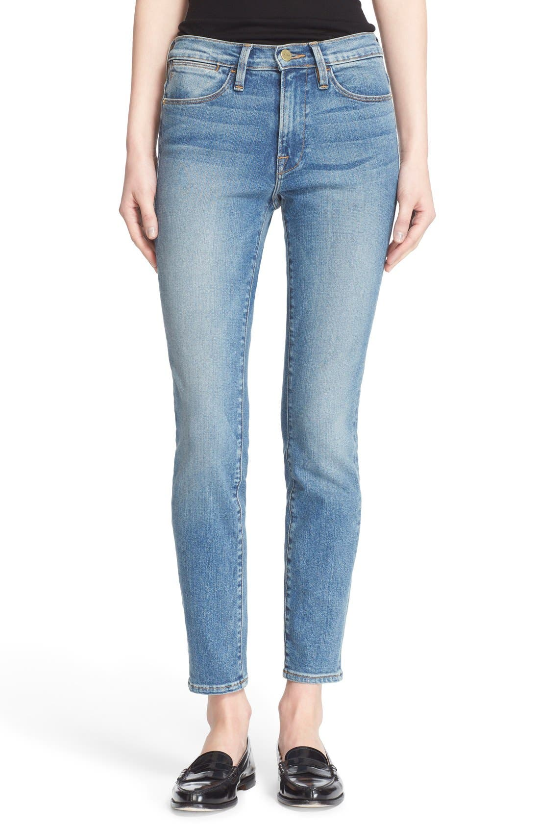 FRAME 'Le High Skinny' High Rise Crop Jeans (Sayville ...