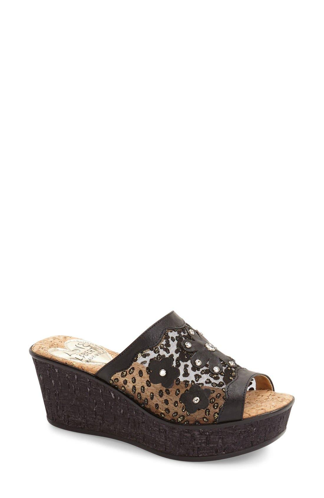 Main Image - Love and Liberty 'Jamila' Platform Wedge Sandal (Women)