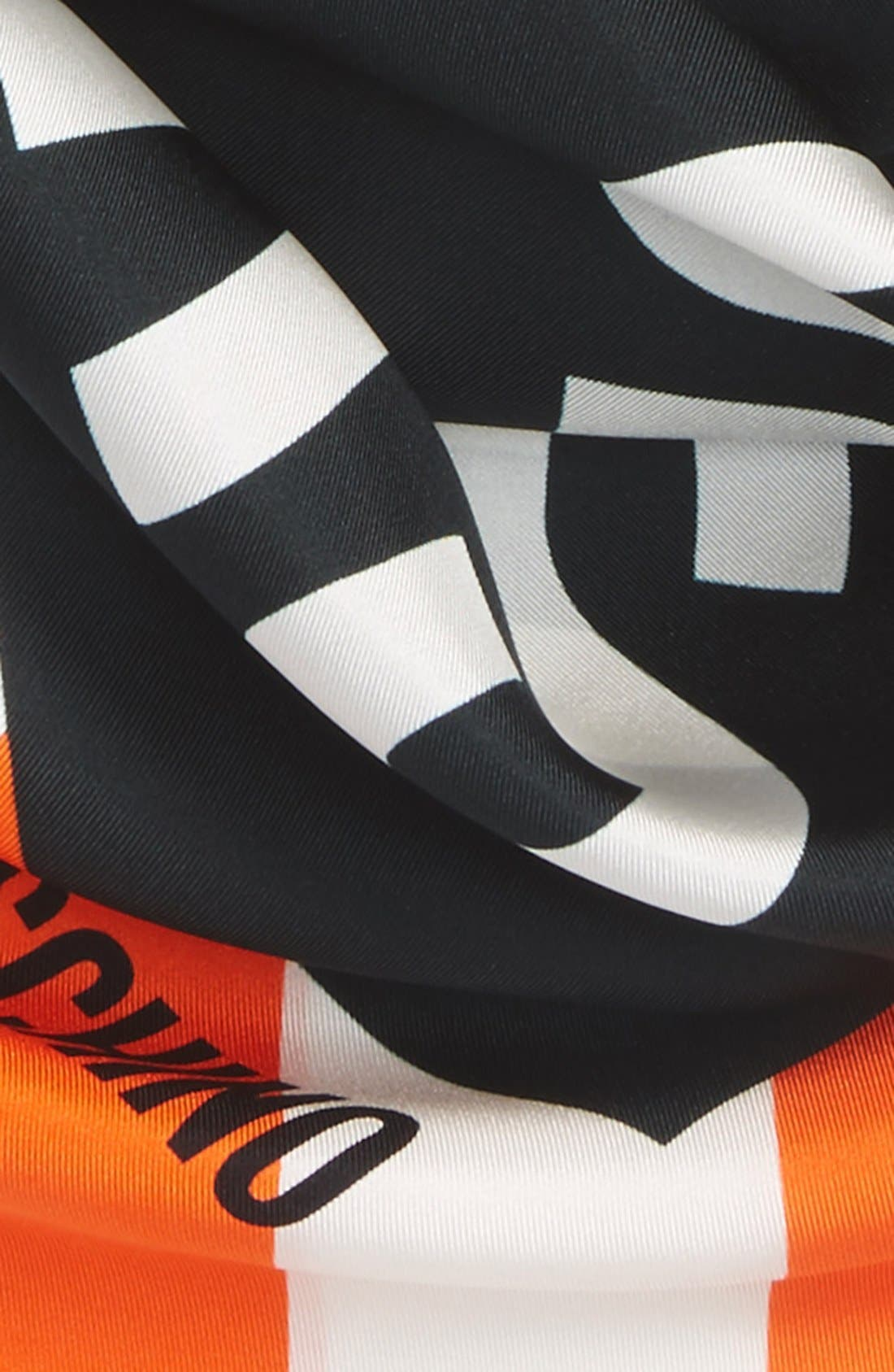 Alternate Image 3  - Moschino 'Clothed for Repairs' Square Silk Scarf
