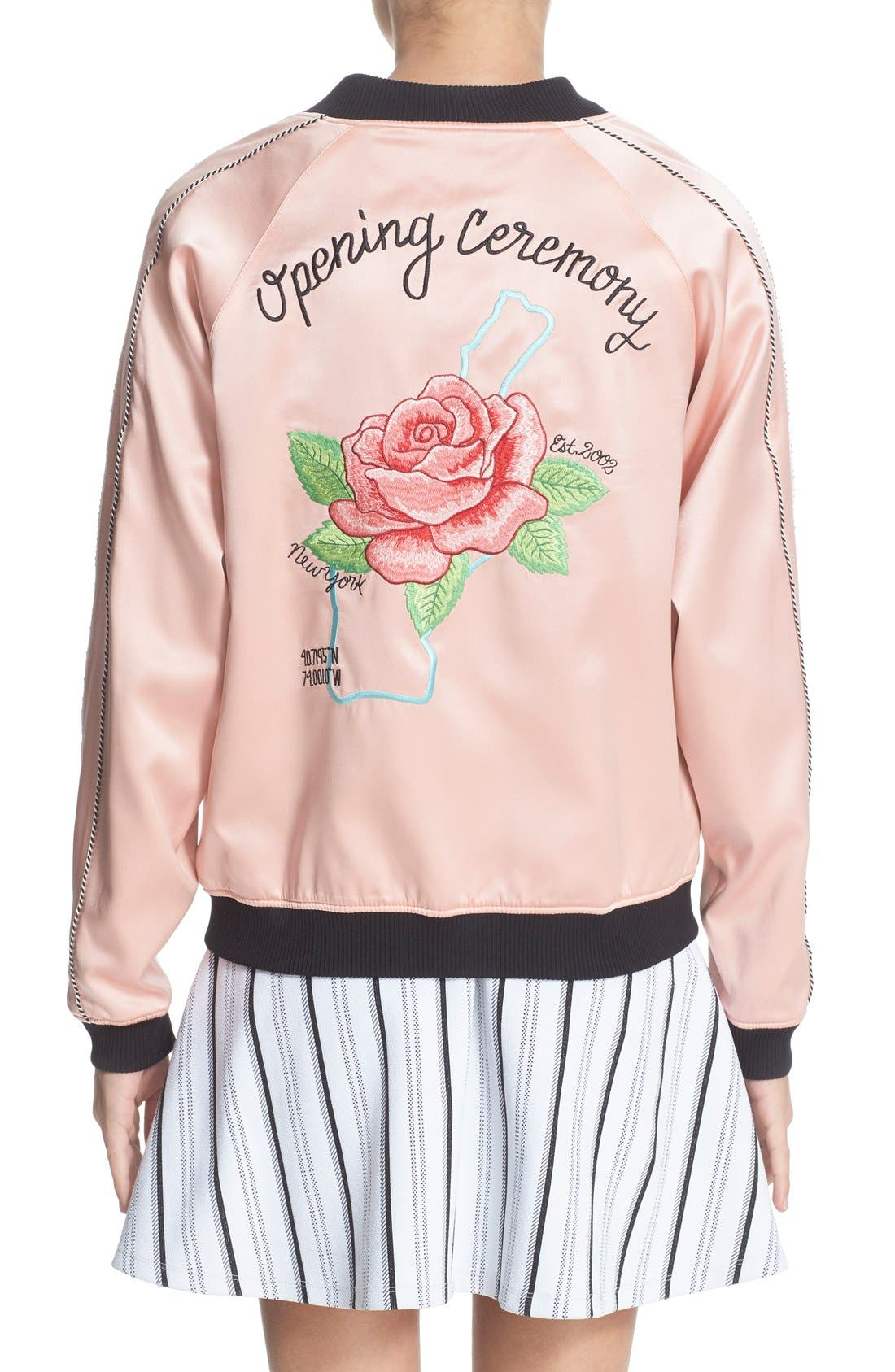 Alternate Image 3  - Opening Ceremony Reversible Embroidered Silk Bomber Jacket
