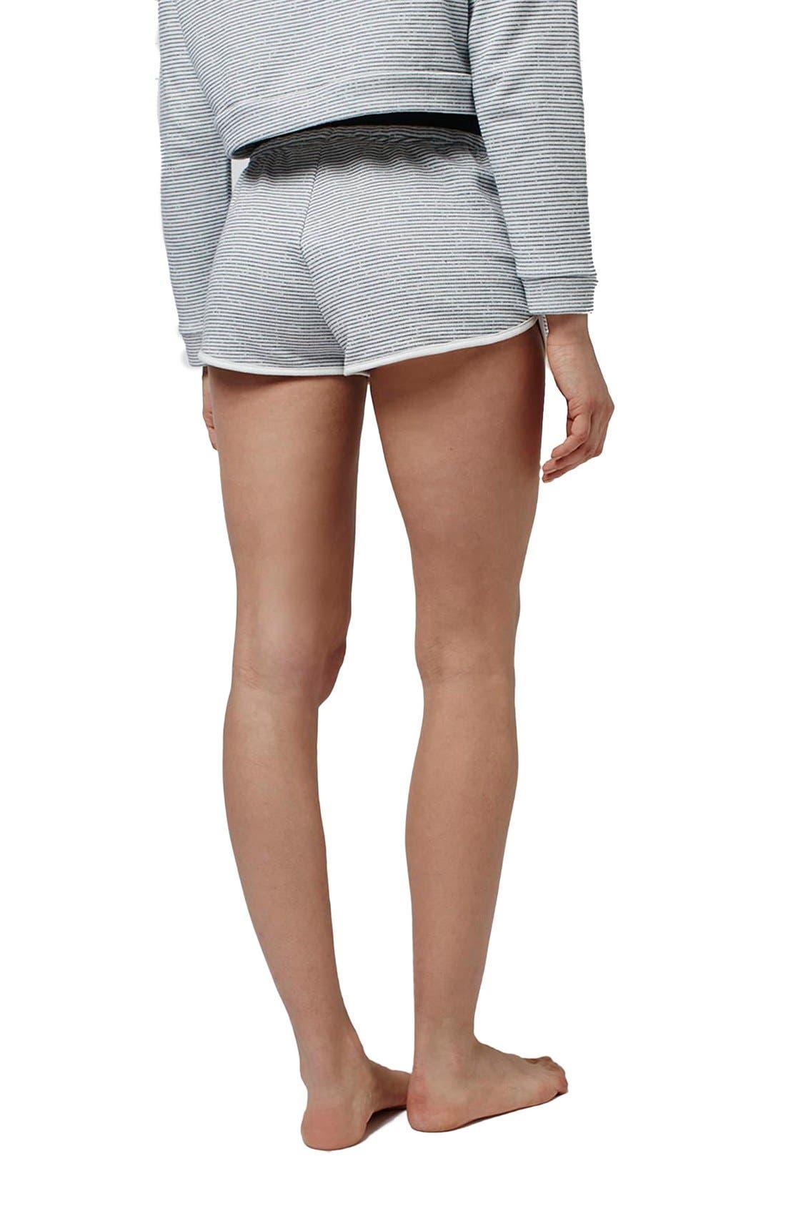 Alternate Image 3  - Topshop Stripe Contrast Waist Pajama Shorts (Petite)