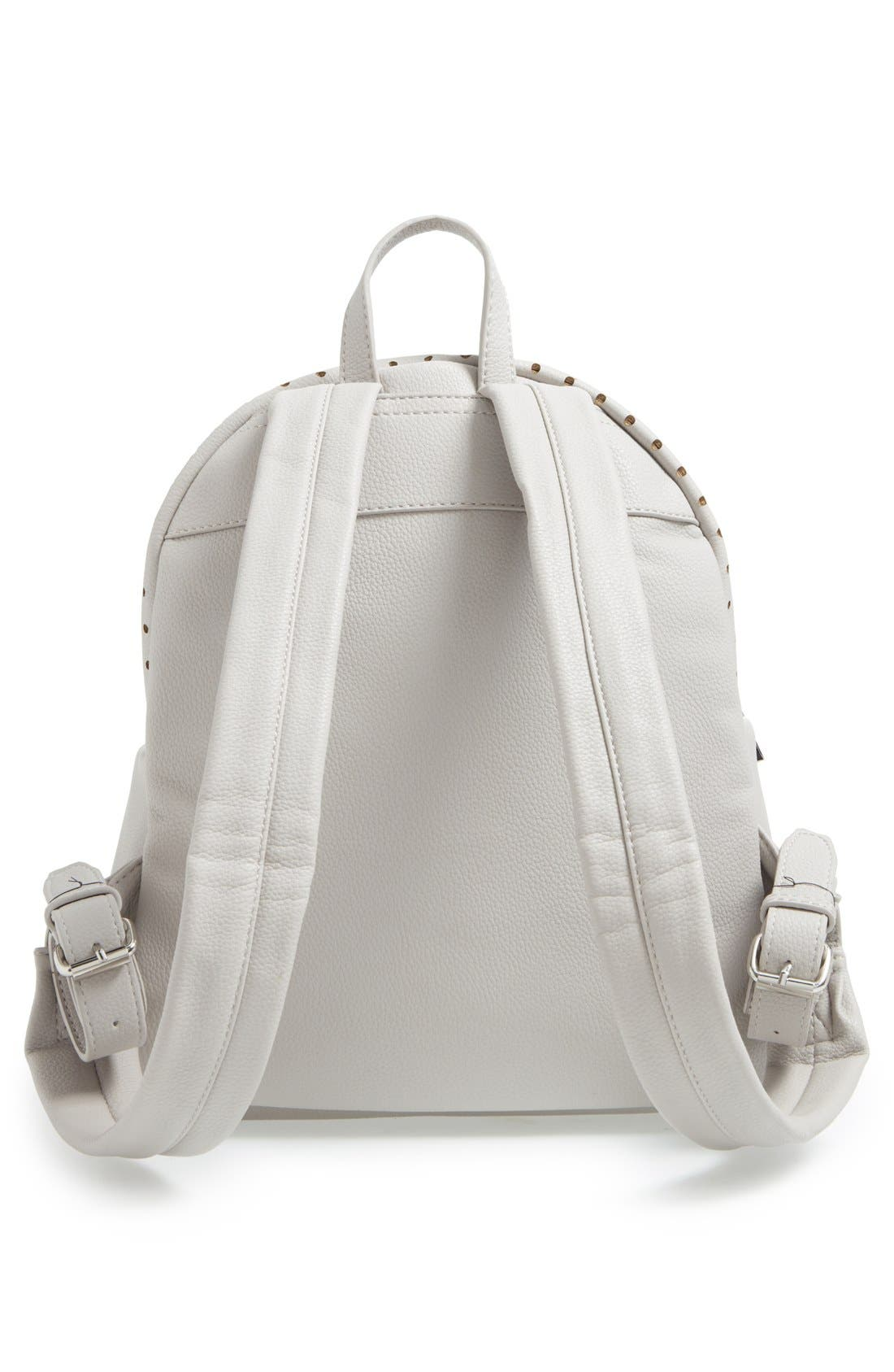 Alternate Image 3  - Street Level Perforated Faux Leather Backpack