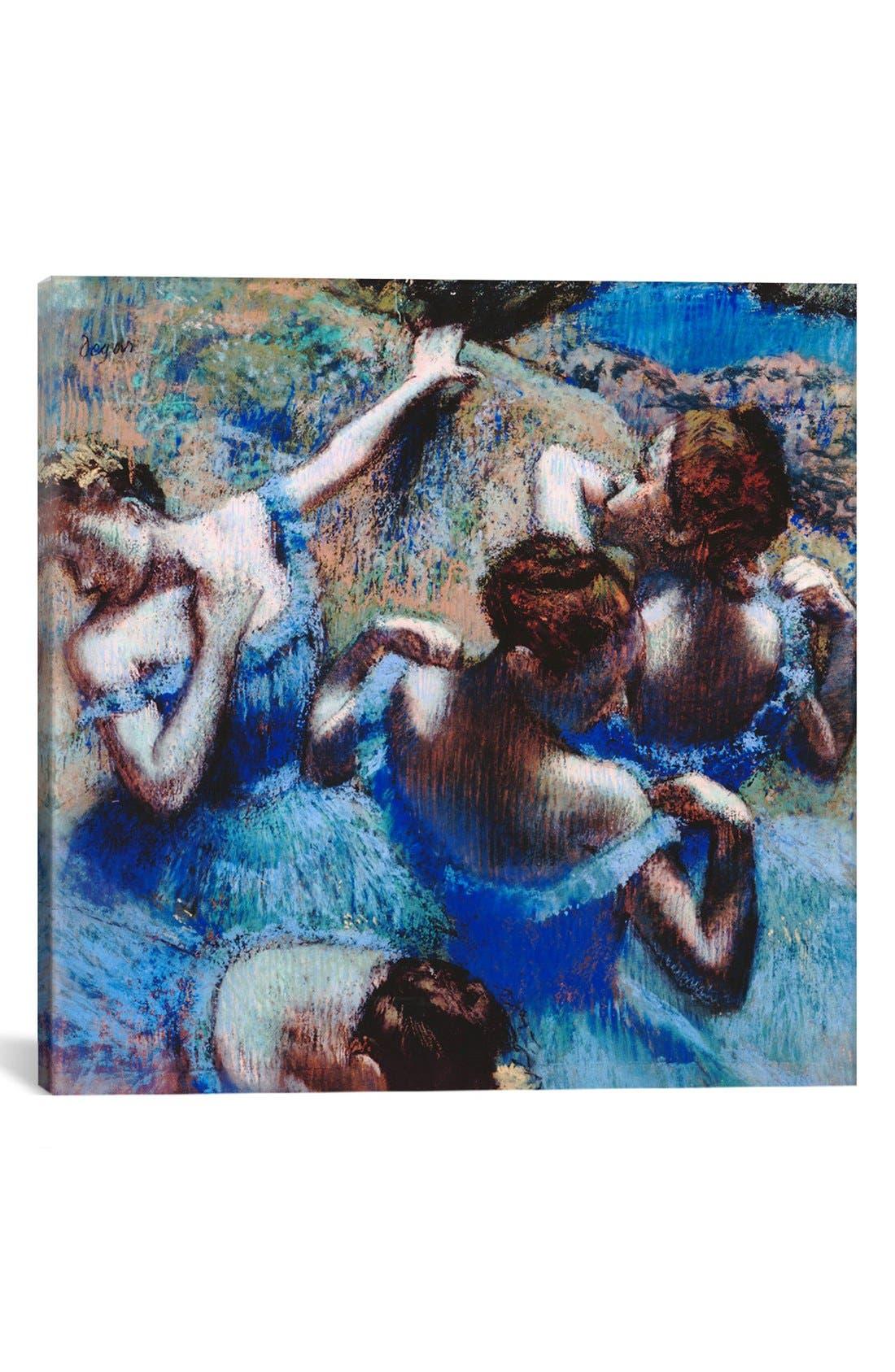 Main Image - iCanvas 'Blue Dancers 1899 - Edgar Degas' Giclée Print Canvas Art