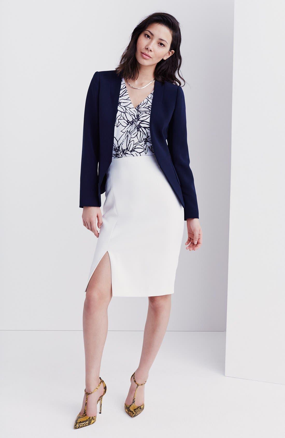 Alternate Image 6  - Ellen Tracy Asymmetrical Front Slit Pencil Skirt