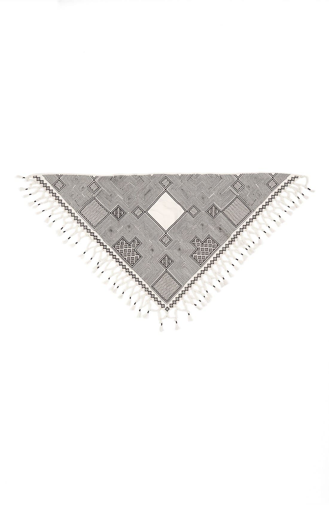Alternate Image 2  - Tory Burch 'Pottery' Embroidered Scarf