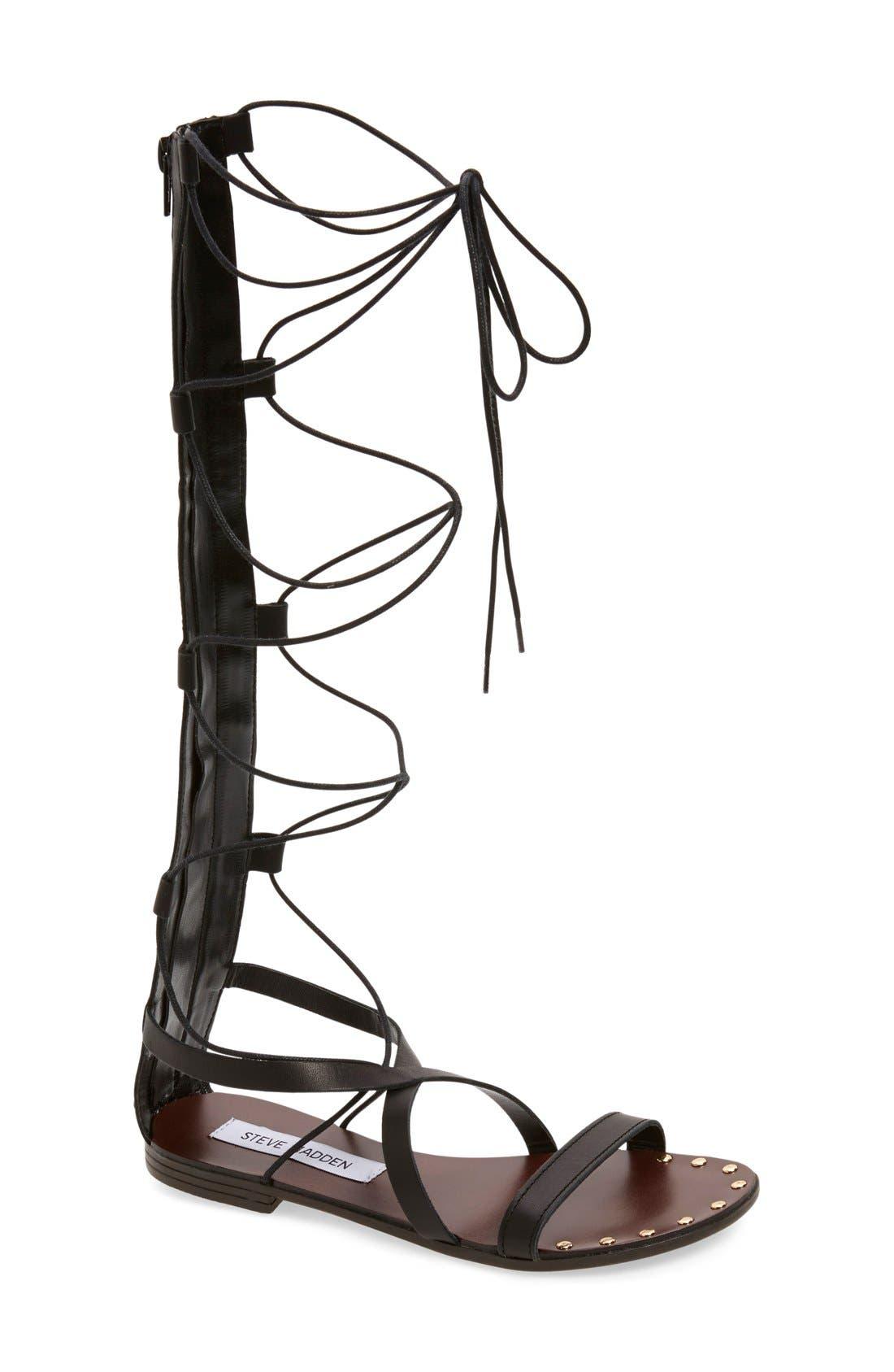 Alternate Image 1 Selected - Steve Madden 'Justeen' Tall Gladiator Sandal (Women)