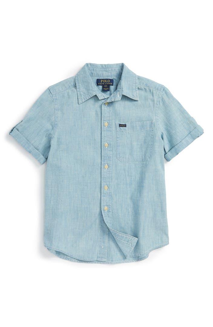 Ralph lauren chambray shirt toddler boys little boy for Chambray shirt for kids
