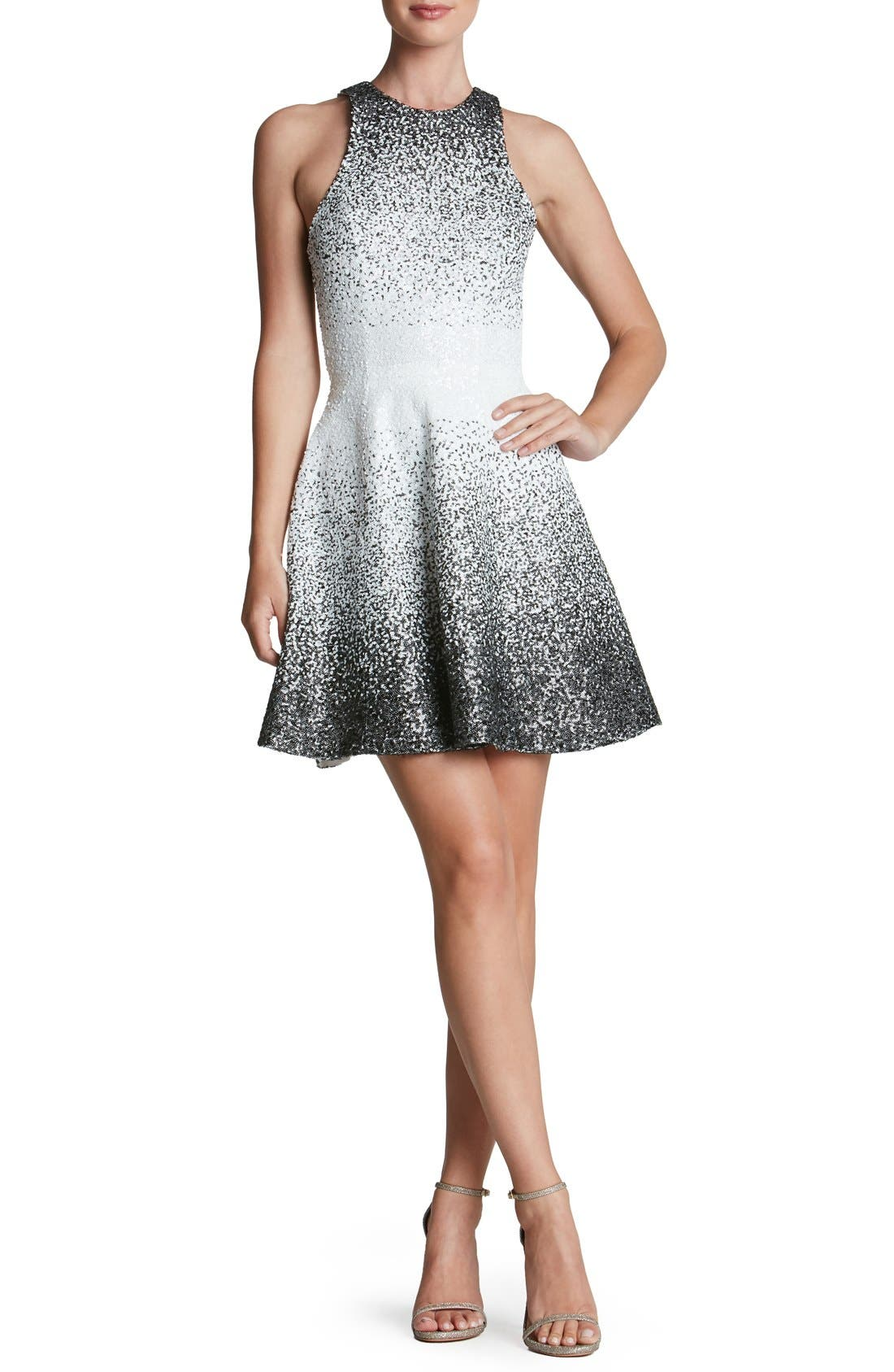 Alternate Image 1 Selected - Dress the Population 'Andi' Sequin Fit & Flare Minidress
