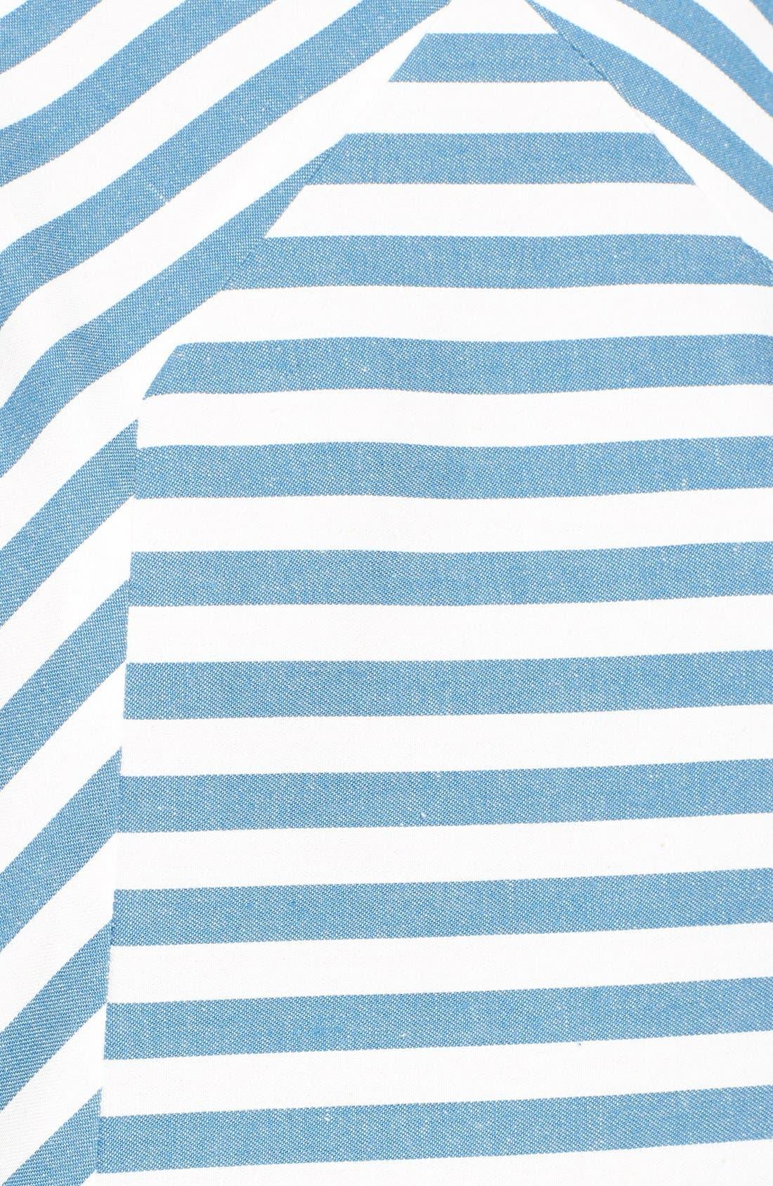 Alternate Image 5  - Rachel Antonoff 'Sam' Stripe Cotton Shift Dress