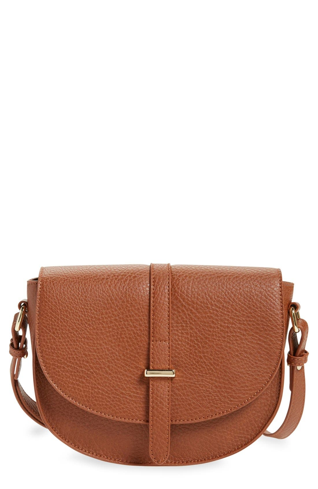 Main Image - BP. Faux Leather Saddle Crossbody Bag